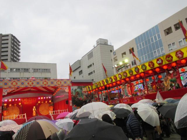 長崎ランタンフェスティバル新地中華街会場(湊公園)の舞台