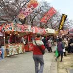 福岡城さくらまつりの屋台