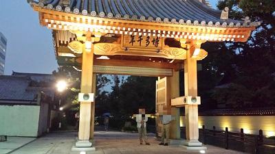 博多千年門の灯明ウォッチング