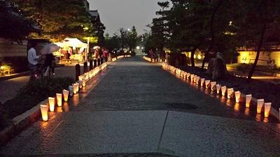 博多千年門の灯明1