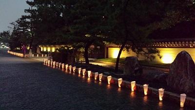 博多千年門の灯明2