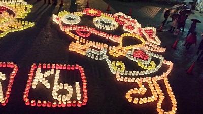櫛田神社の灯明ウォッチング3