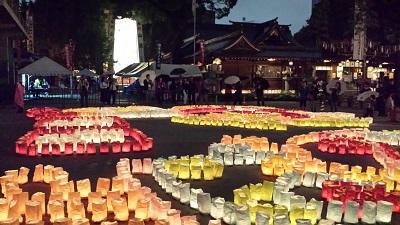 櫛田神社の灯明ウォッチング1