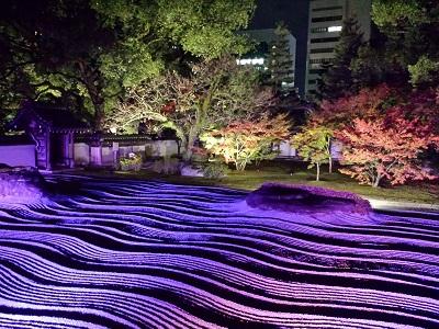 博多ライトアップウォーク承天寺の石庭
