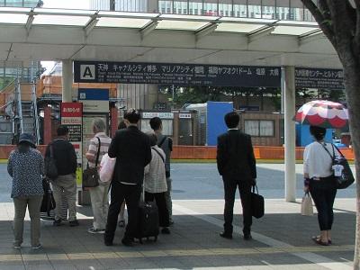 博多駅前Aのバス乗り場