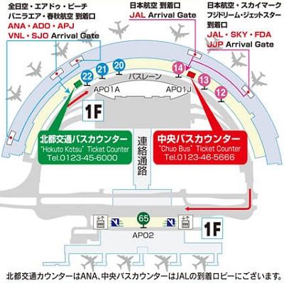新千歳空港から札幌ドームまでのバス