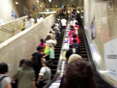 地下鉄博多駅のエスカレーター