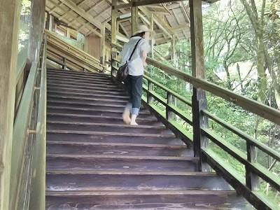 糸島の雷山千如寺大悲王院の階段