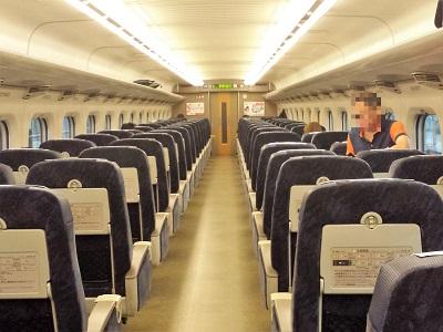 博多から広島 新幹線こだまの座席