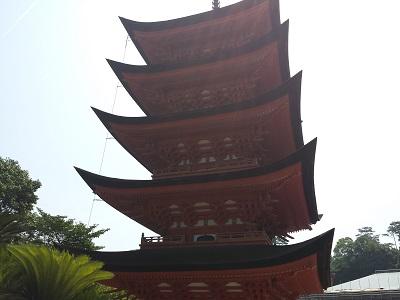 千畳閣と五重塔の眺め