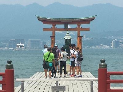 厳島神社大鳥居の写真撮影スポット
