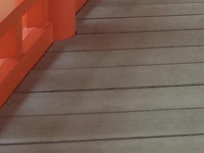 宮島の厳島神社での靴
