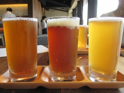 宮島ビールの飲み比べ