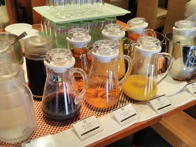 チサンホテル広島の朝食のドリンク