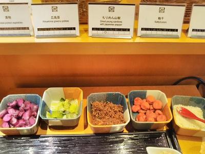チサンホテル広島の朝食の漬物