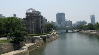原爆ドームと平和記念公園の徒歩ルート