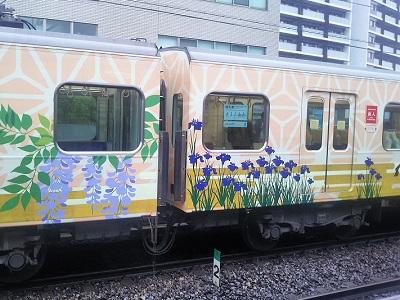 西鉄太宰府線の観光列車 旅人(たびと)
