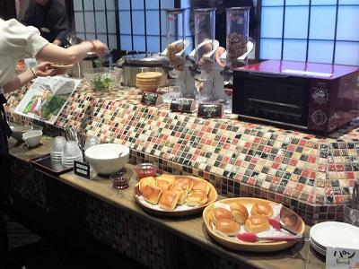 阿蘇内牧温泉の蘇山郷の朝食