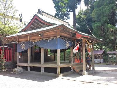南阿蘇の白川水源の白川吉見神社