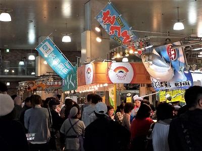 唐戸市場の飲食イベント