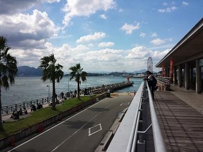 唐戸市場の2階からの眺め