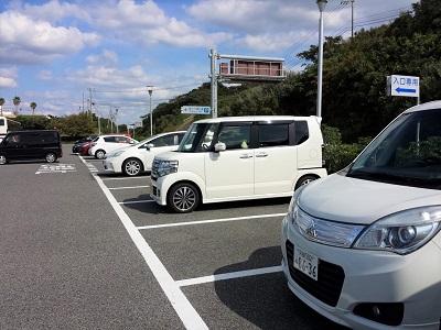 角島大橋の駐車場