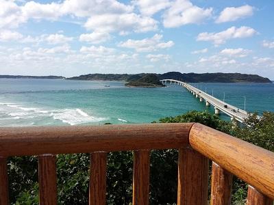 角島大橋の展望台からの角度