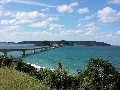 角島大橋の駐車場からの景色
