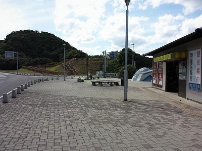 角島大橋の入り口の海士ヶ瀬公園