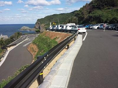 元乃隅神社の駐車場