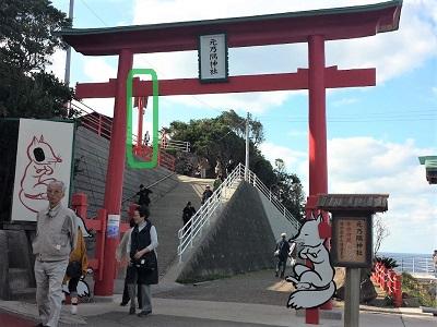 元乃隅神社の賽銭箱の場所