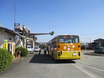 キリンビール福岡工場行きの無料シャトルバス