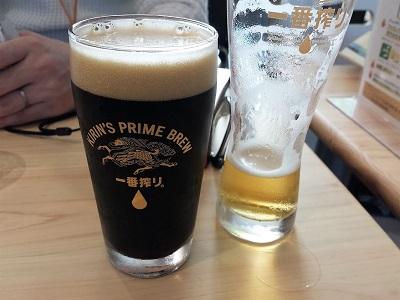 福岡キリンビール工場見学の黒生ビール