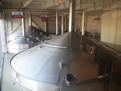 福岡キリンビール工場見学のタンク