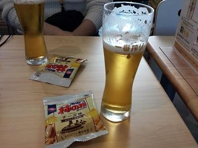 福岡キリンビール工場見学の生ビール