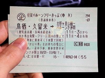 佐賀バルーンフリーきっぷがお得
