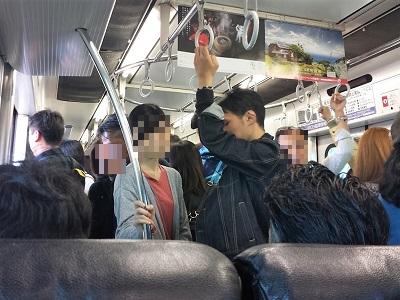 佐賀バルーンフェスタへの電車の混雑 神埼駅