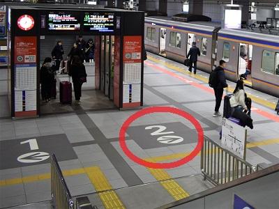 南海線関西空港駅の急行は2番のりば