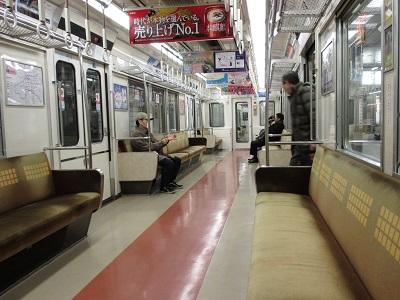 地下鉄堺筋線の車内