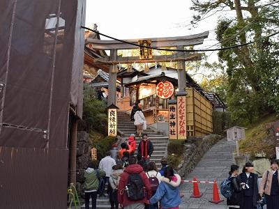 清水寺の工事中の地主神社