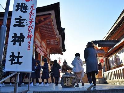 地主神社は清水寺の工事の影響なし