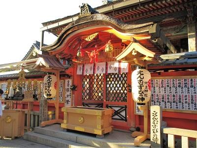 地主神社の本殿