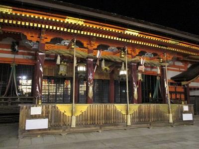 八坂神社の夜間拝観