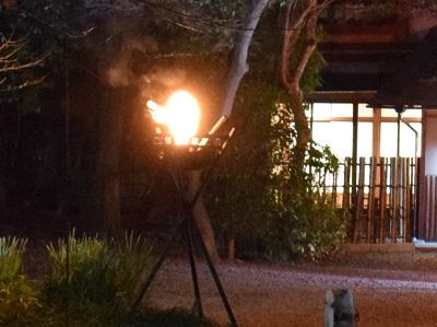 祇園円山かがり火のかがり火