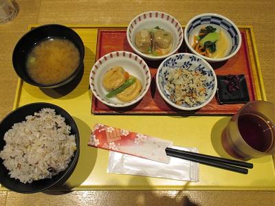 京菜味のむらの朝食おばんざいセットわたしの注文