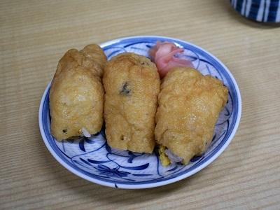 殿田食堂の稲荷寿司