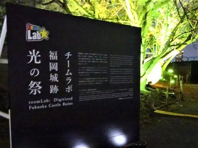 チームラボ福岡城跡光の祭2019-2020の展示