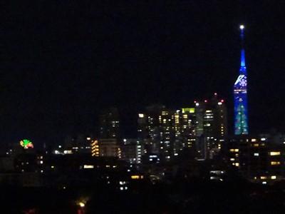 チームラボ福岡城跡光の祭2019-2020の天守台から4