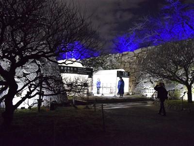 チームラボ福岡城跡光の祭2019-2020の入り口