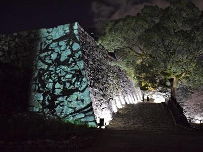 チームラボ福岡城跡光の祭2019-2020石垣の反転無分別
